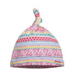 Ubranka dla niemowlaka: http://endo.pl/dla-niemowlaka Endo ubranka dla dzieci  Dzianinowa czapeczka w kolorowy deseń dla niemowlaka N52R003_1