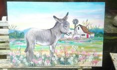 galvanised sink painting for outside Farm Paintings, Donkeys, The Outsiders, Moose Art, Landscapes, Sink, Couples, Canvas, Drawings