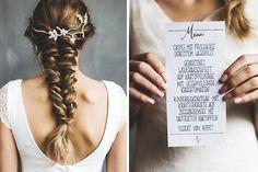 Hochzeitsinspiration, Black Wedding Color, Weddingdress, Bride, Hair, Hochzeitsfotografie Doreen Kühr Crepes, Rind, Blog, Hair Styles, Beauty, Wedding Photography, Hair Plait Styles, Pancakes, Hair Makeup