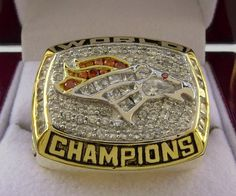 1997 Denver Broncos NFL Super Bowl Championship Rings Ring Size 8 9 10 11 12 13 14 Let's go after one for this year 2014