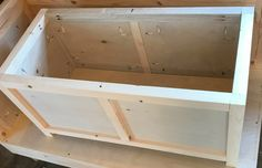 DIY Storage Chest--How to Build in 5 Easy Steps! {Building Plans!}