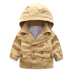 LittleSpring Little Boys' Coat Buttons Hooded Size 7 Khaki. Dress Coat Size 2-3T(height 34-38inch/90-100cm). Dress Coat Size 3-4T(height 38-42inch/100-110cm). Dress Coat Size 4-5T(height 42-46inch/110-120cm). Dress Coat Size 5-6T(height 46-50inch/120-130cm). Dress Coat Size 7-8T(height 50-54inch/130-140cm).