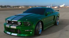 Ford Mustang-in this color!