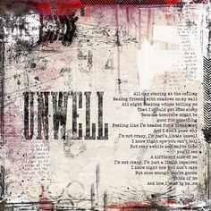Unwell by Matchbox 20 - my song for 2004