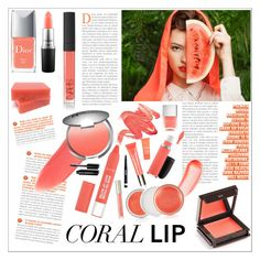 """""""Coral Lips"""" by katarinamm ❤ liked on Polyvore featuring beauty, Charlotte Tilbury, Christian Dior, NARS Cosmetics, Clinique, It Cosmetics, By Terry, MAC Cosmetics, Jouer and Ilia"""