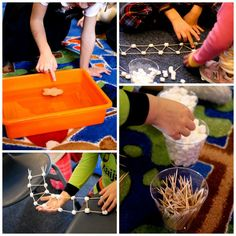STEM activity-- help the gingerbread baby cross the river. SUCH fun!