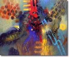 Gallery 415 | Carlos Jacanamijoy, early works Modern Art, Contemporary Art, Painters, Surrealism, Mixed Media, Weaving, Tools, Gallery, Artwork