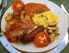 Is the English Breakfast a health hazard or a nutritious all in one meal? What is the evidence for fried food being the cause of disease? Health Breakfast, Nutritious Meals, Food Dishes, Stuffed Peppers, Ethnic Recipes, Indian Recipes, Cooking Haddock, Cooking Ham, Chicken