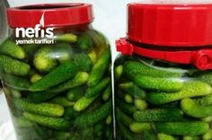 Kıtır Kornişon Turşu (Tam Ölçülü) Tarifi Gherkin Pickle, Turkish Recipes, Easy Cake Recipes, Coco, Pickles, Cucumber, Salsa, Food And Drink, Homemade