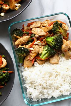 Homemade Meal Prep Honey Ginger Chicken Stir Fry is a great alternative to takeout! This ginger chicken is flavorful, healthy, and everyone in the family will be begging for chicken stir fry every night of the week!