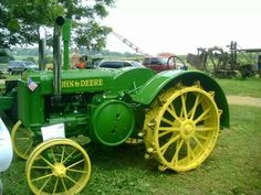 John Deere two cylinder unstyled model D with aftermarket dual exhaust