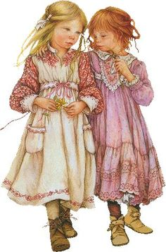 Illustration by Lisi Martin Sarah Kay, Holly Hobbie, Vintage Postcards, Vintage Images, Munier, Martin O'malley, Spanish Artists, Children's Book Illustration, Vintage Children