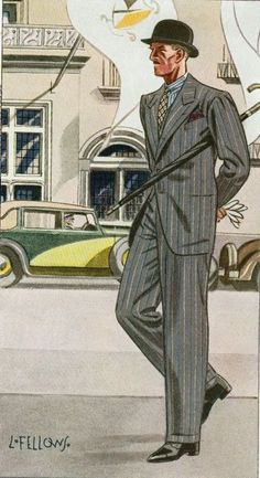 Another great old Laurence Fellows illustration of menswear from the classic era, the T he Average Guy's Guide to Classic Style. 1940s Mens Fashion, Mens Fashion Wear, Vintage Fashion, Mr Style, Classic Style, Classic Fashion, Fashion Illustration Vintage, Fashion Illustrations, Vintage Illustrations