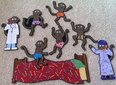 5 Little Monkeys Jumping On The Bed/Swinging in by DMCraftDesigns