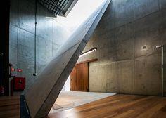 Folded concrete and latticed timber form São Paulo cultural centre