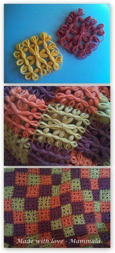 Coperta fatta al telaietto per la mia mamma! Loom Yarn, Rug Loom, Loom Weaving, Hand Weaving, Yarn Projects, Knitting Projects, Crochet Projects, Loom Knitting Patterns, Knitting Stitches