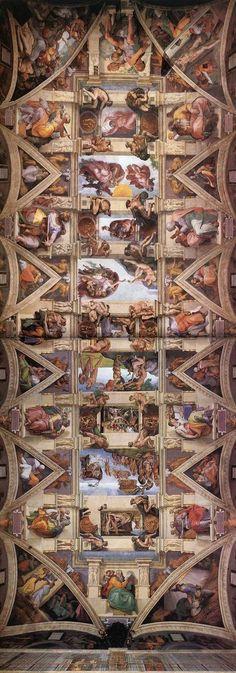 MICHELANGELO BUONARROTI - (1475 - 1564) - Sistine Chapel - Ceiling.