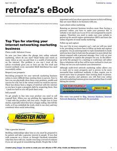 5-trusted-tipsformultilevelnetworkonlinemarketing by retrofaz via Slideshare
