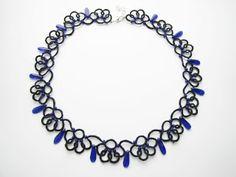 ..:frywolitki i inne koronki:..: Cornflower blue lacy nacklace