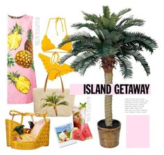 """""""go tropical!"""" by fashiondeluxe ❤ liked on Polyvore featuring Marysia Swim, Dolce&Gabbana, Style & Co., Kate Spade, Disney, tropicalprints and getaway"""