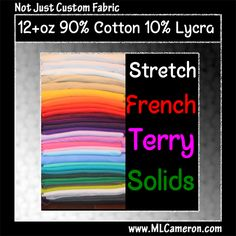90/10 French Terry 12oz