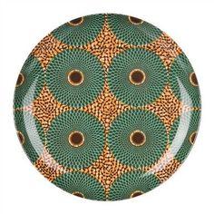 objets : vaisselle Sentou, assiettes, cercles, motif wax