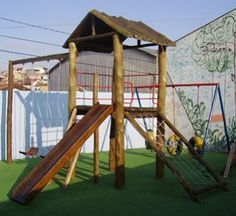 Idéias para campos e jardins: Playground de Eucalipto
