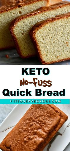 Everyone doing a low carb diet needs a great no-fuss keto quick bread. After all, it's no secret that the majority of people who do keto end up leaving the diet because of bread cravings. This is the perfect low carb quick bread you'll come to over a Easy Keto Bread Recipe, Lowest Carb Bread Recipe, Quick Bread Recipes, Easy Cake Recipes, Low Carb Recipes, Healthy Recipes, Recipe List, Low Carb Coconut Bread Recipe, No Bread Diet