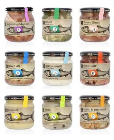 Garant pickled herring: love the illustration, and choice of colours.