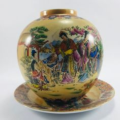 Ceramic vase , Chinese ceramics , hand-painted , Decorative ceramic , Chınese Ceramıc Gıft , Old vase  Dimensions ;  VASE : 7.48 (19 CM )  PLATE : 5.90 ( 15 CM )  Special for your loved ones and you , miniature vases and plates ..   Following your order placement, you will receive an email from Ceramic Decor, Ceramic Vase, Old Vases, Dec 12, Chinese Ceramics, Etsy Seller, Handmade Items, Miniatures, Hand Painted