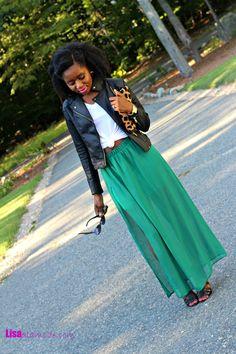 Fall Maxi Skirt Outfit: Fashion a La Mode Link Up - Lisa a la modeLisa a la mode