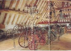 Lakefield House (inspired by Snowshill Manor) --The attic where Wade stored his bicycle collection. I used this room as Ford's laboratory.