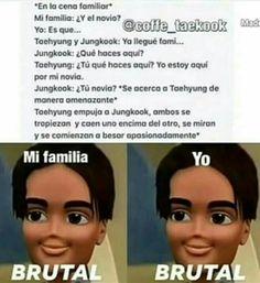 Memes Bts Español, Vkook Memes, Bts Taehyung, Bts Suga, Vkook Fanart, Drama Memes, Kpop, Bts Lockscreen, I Love Bts