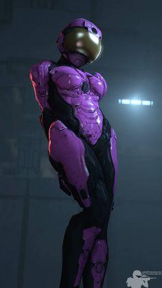 Agent New Jersey by on DeviantArt Cyberpunk Girl, Arte Cyberpunk, Arte Sci Fi, Sci Fi Art, Armor Concept, Concept Art, Halo Armor, Halo Spartan, Female Armor
