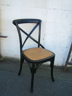 Birch Chair in Black - Antique Market, Salvaged Wood, Wood Furniture, Stools, French Country, Birch, Dining Chairs, Antiques, Home Decor