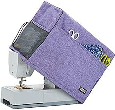 HOMEST Sewing Machine Dust Cover with Storage Pockets, Compatible with Most Standard Singer and Brother Machines, Purple (Patent Pending) ** See this great product. (This is an affiliate link) Janome, Sewing Tools, Sewing Hacks, Brother Sewing Machines, Sewing Accessories, Free Motion Quilting, Cool Things To Make, Bag Storage, Hand Sewing
