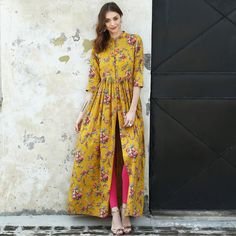 Shop from Indian Fashion Designer Desi Doree Pakistani Dresses, Indian Dresses, Indian Outfits, Kurti Pakistani, Modest Fashion, Hijab Fashion, Fashion Dresses, Look Fashion, Indian Fashion
