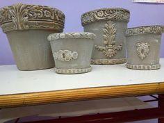 Looks like cement! Iron Orchid Designs, Flower Pots, Flowers, Mixed Media Artists, Terracotta Pots, Potted Plants, Cement, Orchids, Planter Pots