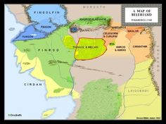 Royaumes et influences elfiques au Beleriand au Premier Age