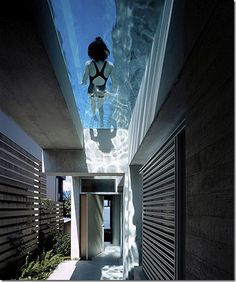 Swimming on the ceiling..