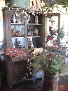 Holiday decor in our showroom