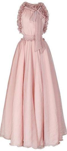 Ruffled Halter Maxi Chiffon Dress