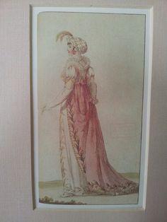 Vintage Mounted Ladies Fashion Costumes, Caroline de la Motte Fouque's Geschichte der Moden 1785-1829.