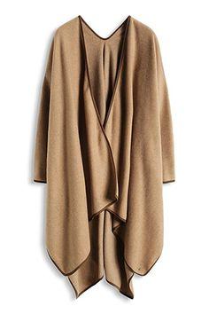 Esprit / Paspelierter Fleece-Poncho How To Make Clothes, Making Clothes, Fleece Poncho, Pashmina Wrap, Stitch Fix, Dame, Kimono Top, About Me Blog, Bohemian Style
