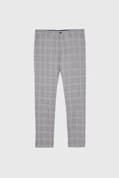 Image  de PANTALON DE COSTUME À CARREAUX de Zara Pantalon Costume, Zara, Plaid Suit, Slim Fit Pants, Welt Pocket, Workout Pants, Mannequin, Suit Pants, Pajama Pants