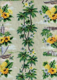Pineapples aren't the only great golden yellow thing in this print. Hibiscus flowers in coordinating colors also give it a great tropical vibe.