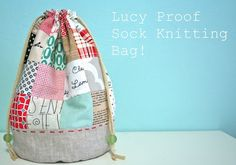 Lucy-Proof Sock Knitting Bag