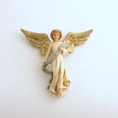 Vintage Christmas Angel Ornament Nativity by efinegifts on Etsy