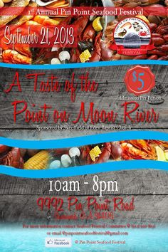 Pin Point will host its inaugural Seafood Festival this Saturday, September 21st from 10 a.m. – 8 p.m. Admission is $5