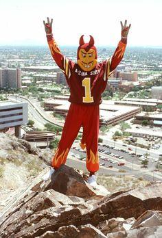 Sparky the Sun Devil, Arizona State Sun Devils mascot, 2003.